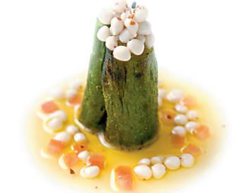 Caviar de quiabo da Roberta Sudbrack