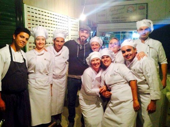 A gente com o chef Leo Paixão. Melhor chef de BH de 2014 pela revista Veja e proprietário do restaurante Glouton.